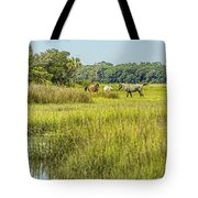 The Horses Of Cumberland Island Tote Bag