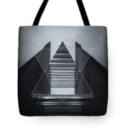 The Hotel Experimental Futuristic Architecture Photo Art In Modern Black And White Tote Bag