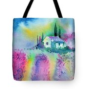 The House By The Lavender Field Tote Bag