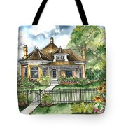 The House On Spring Lane Tote Bag