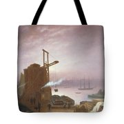 The Hudson River From Hoboken Tote Bag by Robert Walter Weir