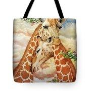The Hug - Giraffes Tote Bag