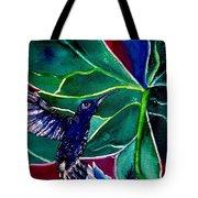 The Hummingbird And The Trillium Tote Bag