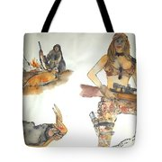 the Hunter and Hunted album Tote Bag