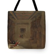 The Hypostyle Hall Of The Great Temple At Abu Simbel Egypt Tote Bag