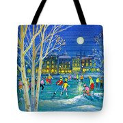 The Iceskaters Tote Bag