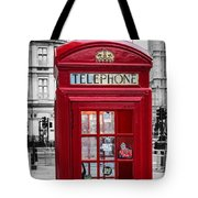 The Iconic London Phonebox Tote Bag