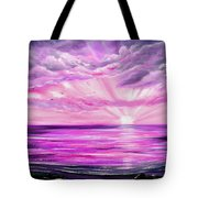 The Incredible Journey - Purple Sunset Tote Bag