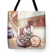 The Indian Tendor-coconut Vendor Tote Bag
