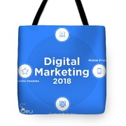 The Interesting Path Digital Marketing Trends Will Take In 2018 Tote Bag