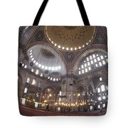The Interior Of The Suleymaniye Mosque Tote Bag