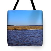 The Intracoastal Waterway In The Georgia Low Country In Winter Tote Bag