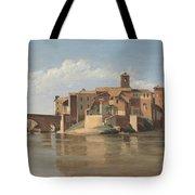The Island And Bridge Of San Bartolomeo - Rome Tote Bag