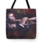 The Jazz Player Tote Bag