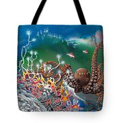 The Jeweled Octopus Tote Bag
