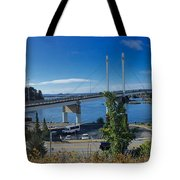 The John O'connell Bridge Is A Cable-stayed Bridge Over The Sitk Tote Bag