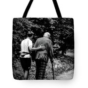 The Journey Bw Tote Bag
