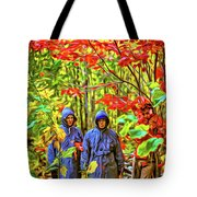 The Joys Of Autumn Camping - Paint Tote Bag