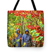 The Joys Of Autumn Camping Tote Bag