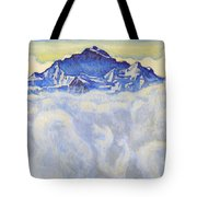 The Jung Frau Above A Sea Of Mist Tote Bag