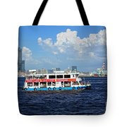 The Kaohsiung Harbor Ferry Crosses The Bay Tote Bag