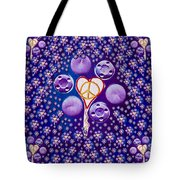 The Key To Love Is Peace And Love Popart Tote Bag