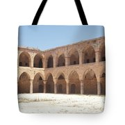 The Khan, Also Known As A Caravanserai, In Akko, Israel Tote Bag
