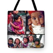 The Kids Of India Collage Tote Bag