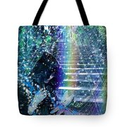 The Kindly Meeting On The Approach Up The Stairway Tote Bag