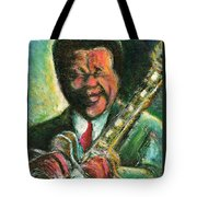 The King And His Guitar Tote Bag