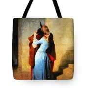 The Kiss Of Hayez Revisited Tote Bag