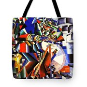 The Knife Grinder Tote Bag