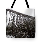 The  Koksilah River Trestle With Snow 1. Tote Bag