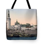 The Kremlin Towards The Place Rouge In Moscow - Russia - Ca 1900 Tote Bag