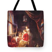 The Lady At Her Dressing Table 1667 Tote Bag