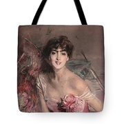 The Lady In Pink Tote Bag