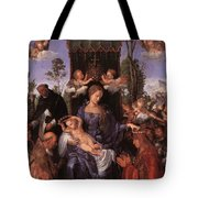 The Lady Of The Festival Du Rosaire Fragment Tote Bag