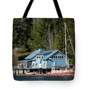 The Lake House - Digital Oil Tote Bag