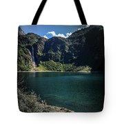 The Lake On A Mountain Tote Bag