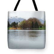 The Lake View  Tote Bag