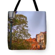 The Lamppost In Oil Tote Bag