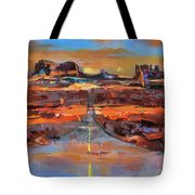 The Land Of Rock Towers Tote Bag