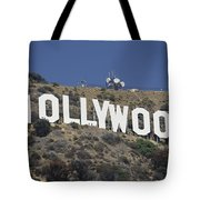 The Landmark Hollywood Sign Tote Bag