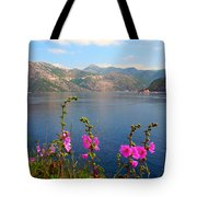 The Landscape Of The Bay Of Kotor In Montenegro. Tote Bag