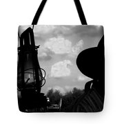 The Lantern On The Trail Tote Bag