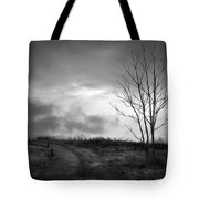 The Last Dawn - Grayscale Tote Bag