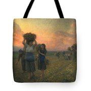 The Last Gleanings Tote Bag by Jules Breton