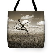 The Last One Standing - Sepia Tote Bag