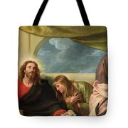 The Last Supper Tote Bag by Benjamin West