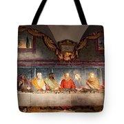The Last Supper. Fresco In Church Santa Maria Del Carmine, Florence  Tote Bag